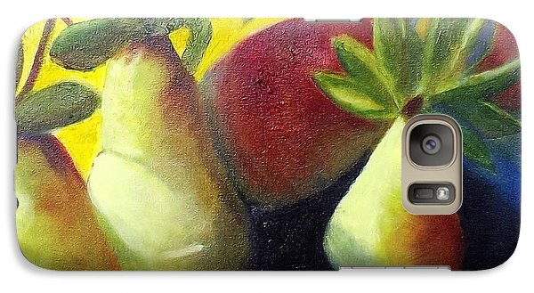Galaxy Case featuring the painting Pears In Sunshine by Margaret Harmon