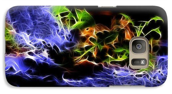 Galaxy Case featuring the digital art Peek A Boo - Robbie The Squirrel - 7800 -fractal by James Ahn