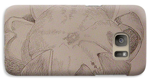 Galaxy Case featuring the drawing Peeled Orange by Roena King