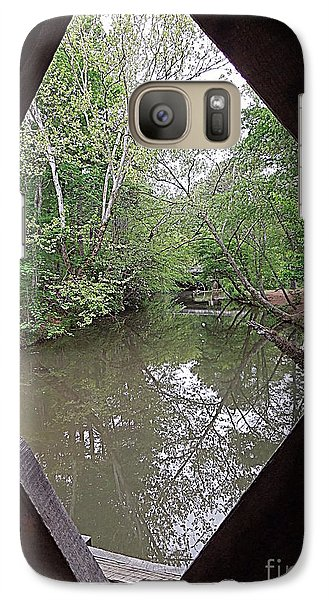 Galaxy Case featuring the photograph Peering Out by Renee Trenholm