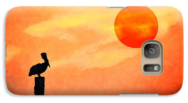 Galaxy Case featuring the photograph Pelican During Hot Day by Dan Friend