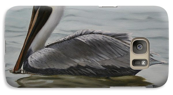 Galaxy Case featuring the painting Pelican Swim by Jimmie Bartlett