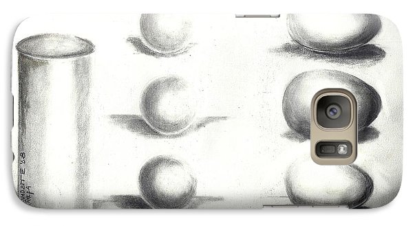 Galaxy Case featuring the painting Pencil Shadows by Bernadette Krupa