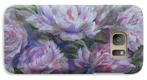 Galaxy Case featuring the painting Peonies by Bonnie Goedecke