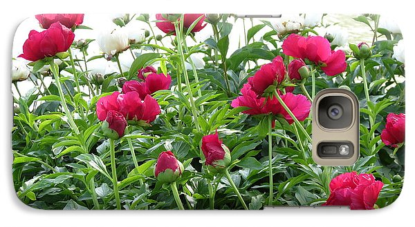 Galaxy Case featuring the photograph Peony Abundance by Rebecca Overton