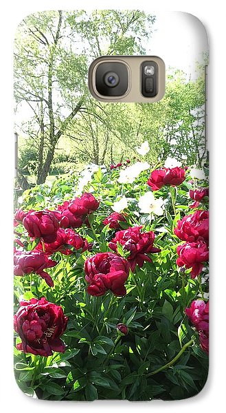 Galaxy Case featuring the photograph Peony Garden Path by Rebecca Overton