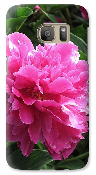 Galaxy Case featuring the photograph Peony Hot Pink by Rebecca Overton