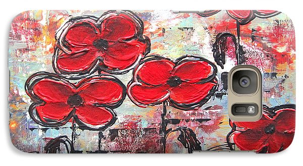 Galaxy Case featuring the painting Perfect Poppies by Kathy Sheeran