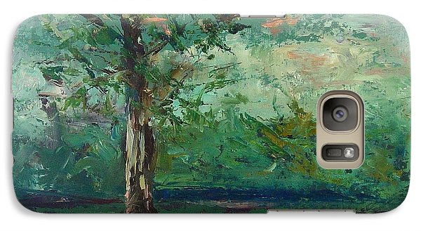 Galaxy Case featuring the painting Persimmon In Plein Air by Carol Berning