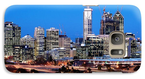 Galaxy Case featuring the photograph Perth City Night View From Kings Park by Yew Kwang