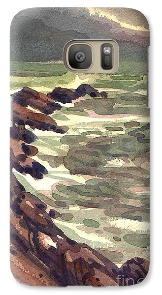 Galaxy Case featuring the painting Pescadero Rocks by Donald Maier