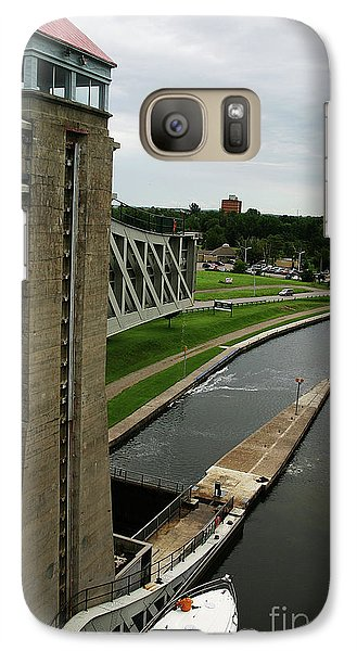 Galaxy Case featuring the photograph Peterborough Lift Lock by Alyce Taylor