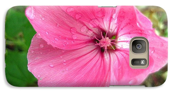 Galaxy Case featuring the photograph Rain Floral by Kathy Bassett