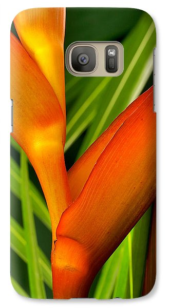 Galaxy Case featuring the photograph Photograph Of A Parrot Flower Heliconia by Perla Copernik