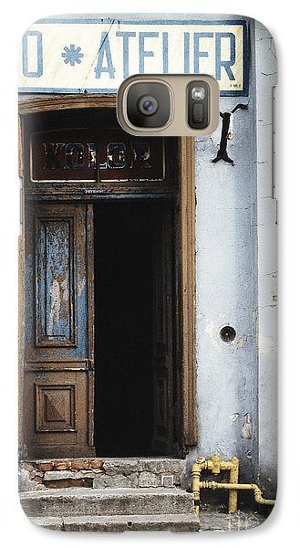 Galaxy Case featuring the photograph Photography Studio Entrance by Agnieszka Kubica