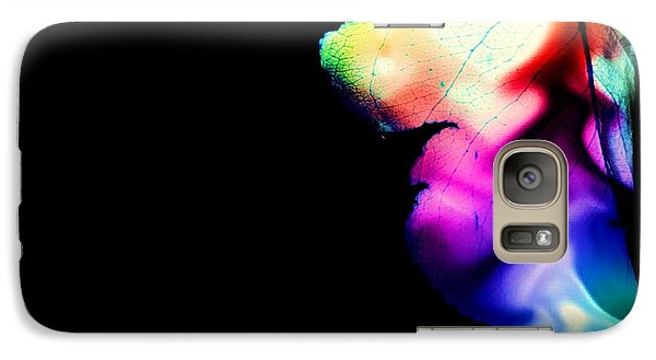 Galaxy Case featuring the photograph Phycadelic Leaf by Jessica Shelton