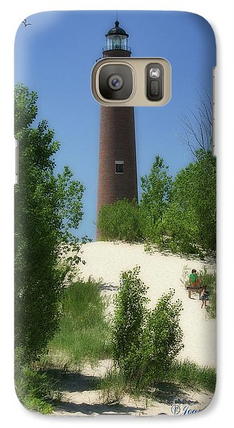 Galaxy Case featuring the photograph Picnic By The Lighthouse by Joan Bertucci