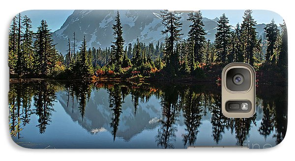 Galaxy Case featuring the photograph Picture Lake - Heather Meadows Landscape In Autumn Art Prints by Valerie Garner