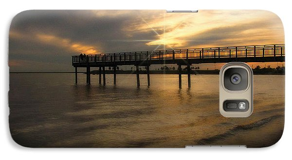 Galaxy Case featuring the photograph Pier  by Cindy Haggerty