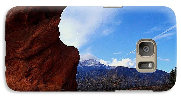 Galaxy Case featuring the photograph Jut Rock Over Pikes Peak by Clarice  Lakota