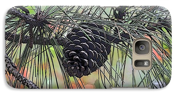 Galaxy Case featuring the photograph Pinecone by Donna  Smith