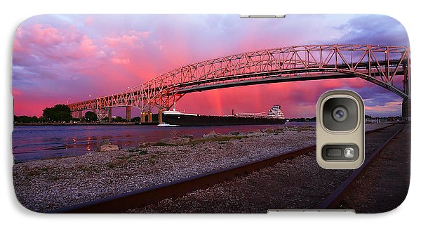 Galaxy Case featuring the photograph Pink And Blue by Gordon Dean II
