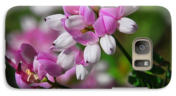 Galaxy Case featuring the photograph Pink And White by Cindy Manero