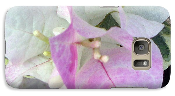 Galaxy Case featuring the photograph Pink And White Surprise by Debi Singer