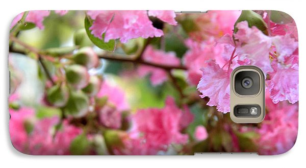 Galaxy Case featuring the photograph Pink Blooms by Nada Meeks