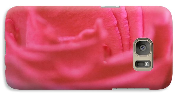 Galaxy Case featuring the photograph Pink Edges by Joan Bertucci