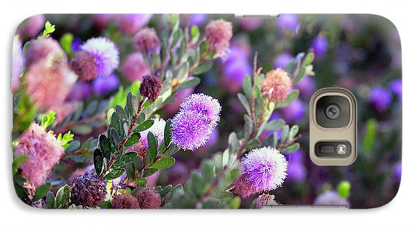 Galaxy Case featuring the photograph Pink Fuzzy Balls by Clayton Bruster