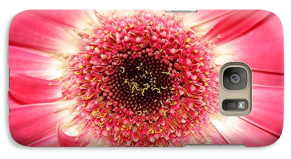 Galaxy Case featuring the photograph Pink Gerbera Daisy Close-up by Kerri Mortenson