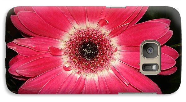 Galaxy Case featuring the photograph Pink Gerbera Daisy by Kerri Mortenson