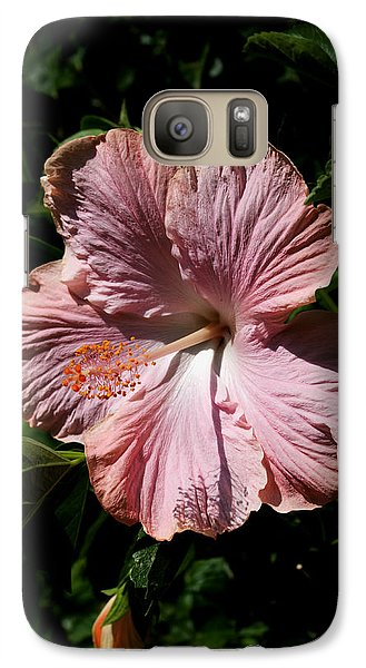 Galaxy Case featuring the photograph Pink Hibiscus by Karen Harrison