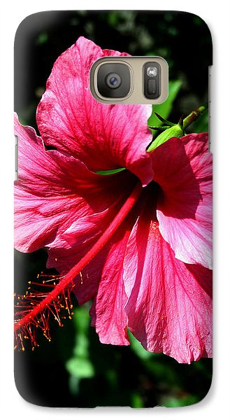 Galaxy Case featuring the photograph Pink Hibiscus2 by Karen Harrison