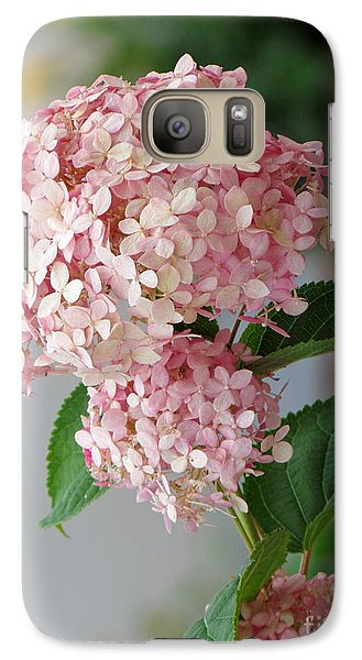 Galaxy Case featuring the photograph Pink Hydrangea by France Laliberte