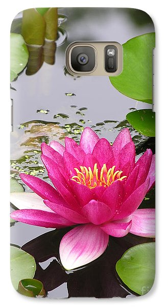 Lily Galaxy S7 Case - Pink Lily Flower  by Diane Greco-Lesser