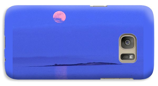 Galaxy Case featuring the photograph Pink May Moon by Francine Frank