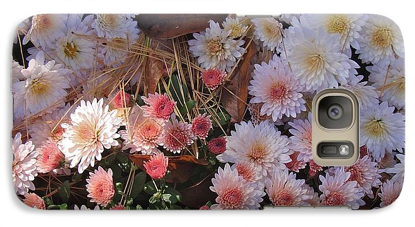 Galaxy Case featuring the photograph Pink Mum by Joseph Yarbrough