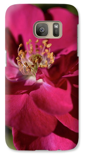 Galaxy Case featuring the photograph Pink Of Rose by Joy Watson