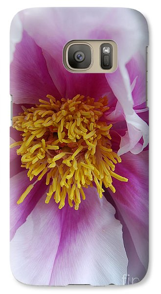 Galaxy Case featuring the photograph Pink Peony by Eva Kaufman