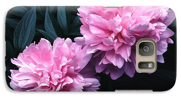 Galaxy Case featuring the photograph Pink Peony Pair by Tom Wurl