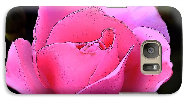 Galaxy Case featuring the photograph Pink Rose Day by Clayton Bruster