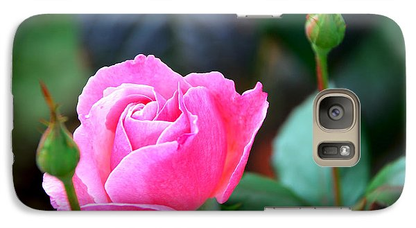 Galaxy Case featuring the photograph Pink Rose by Janice Adomeit