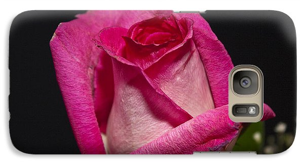 Galaxy Case featuring the photograph Pink Rose by Michael Waters