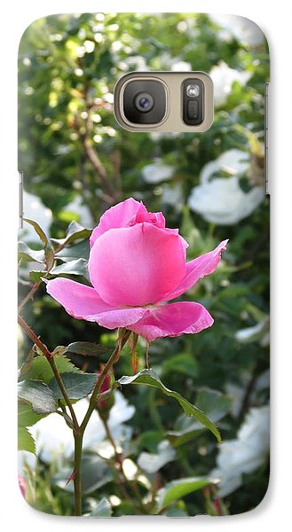 Galaxy Case featuring the photograph Pink Rose  by Rebecca Overton