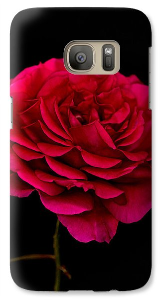 Galaxy Case featuring the photograph Pink Rose by Steve Purnell