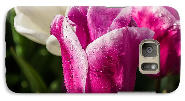 Galaxy Case featuring the photograph Pink Tulip by David Gleeson