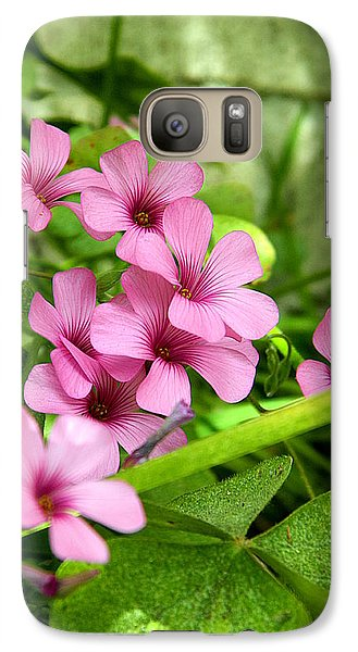 Galaxy Case featuring the photograph Pink Wild Flowers by Ester  Rogers