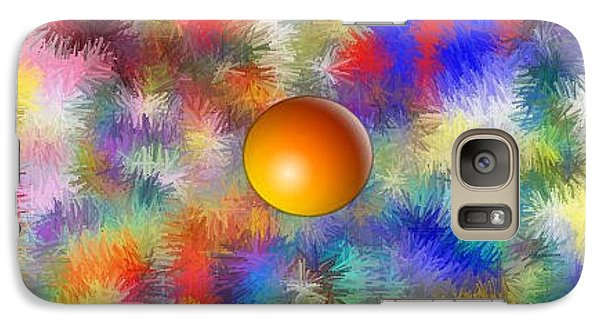 Galaxy Case featuring the digital art Planet Stand Out by Alec Drake